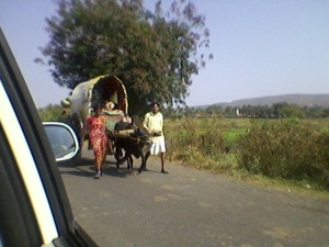 villagers going to the fair