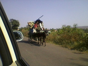 Rural Indian Family on a road trip