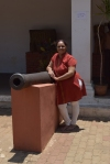 at the entrance of Kittur Archeological Museum.