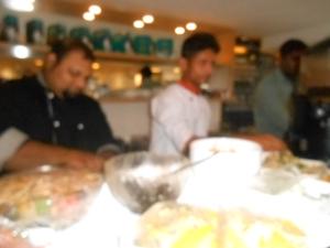 Chef  Geraldo Caiado in action.