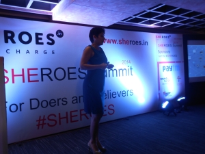 Karthiga Reddy of FB addressing the sheroes