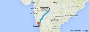 washim to goa