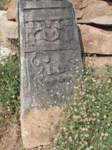 Panel showing a Jain monk (probably mahaveer) in dhyana.