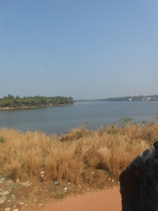 The Gurupura river from the watch tower