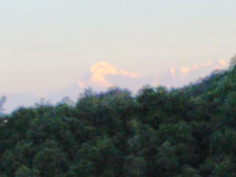 Trishul Peak from my room pic. courtesy Mohana Talapatra